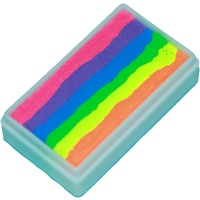 TAG Body Art & Face Paint 1 Stroke Split Cake 30g - Neon Rainbow