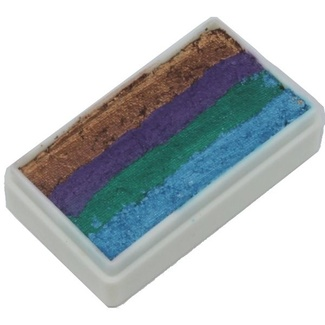 TAG Body Art & Face Paint 1 Stroke Split Cake 30g - Peacock
