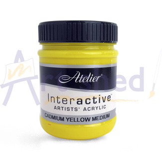 Atelier Interactive Acrylic Paint 250ml S4 - Cadmium Yellow Mid