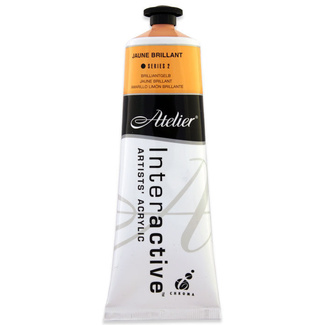 Atelier Interactive Acrylic Paint 80ml S2 - Jaune Brilliant