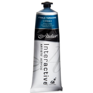 Atelier Interactive Acrylic Paint 80ml S2 - Phthalo Turquoise