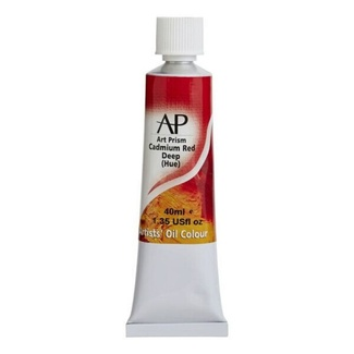 Art Prism Oil Paint 40ml - Cadmium Red Deep