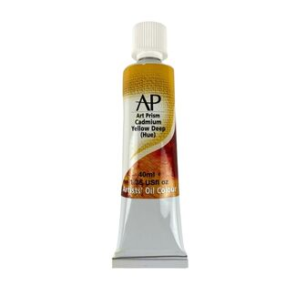 Art Prism Oil Paint 40ml Cadmium Yellow Deep
