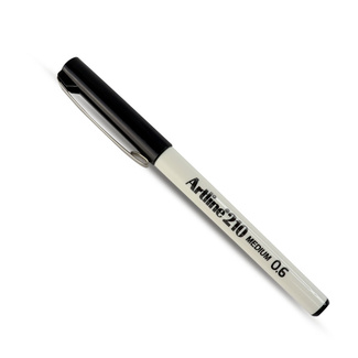 Artline 210 Medium Tip Marker - Black