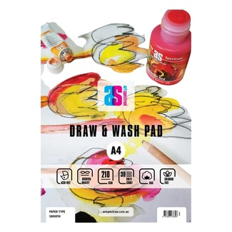 Art Spectrum Draw & Wash Pad A4 210 GSM Smooth Paper