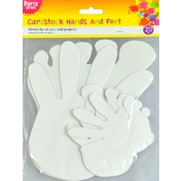 Cardstock Hands and Feet 20pc