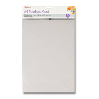 Pearlised Card A4 6pc - White