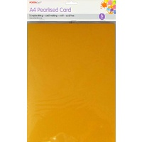 Pearlised Card A4 6pc - Light Gold