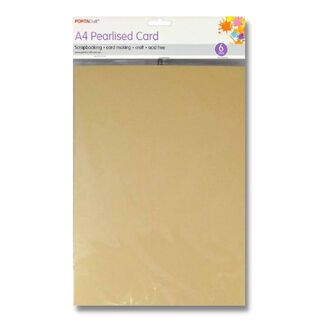 Pearlised Card A4 6pc - Ivory