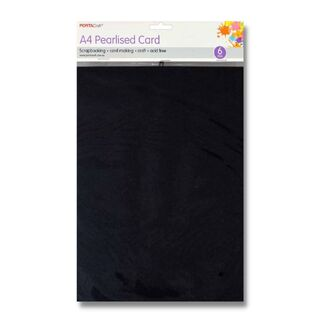 Pearlised Card A4 6pc - Gunmetal