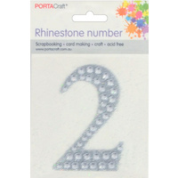 Rhinestone Numbers 63x65mm 2