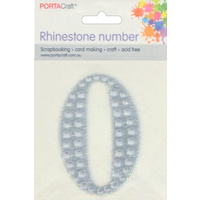 Rhinestone Numbers 63x65mm 0