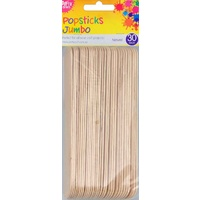 Popsticks Jumbo 30pc Natural