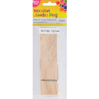 Wooden Clothes Pegs - Jumbo Natural 1pc