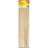 Wooden Craft Rod 6.5 x 300mm 10pc