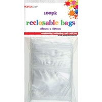 Resealable Bag 38x50mm 100pc