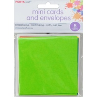 Mini Card & Envelopes 8pc - Bright