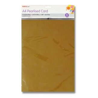 Pearlised Card A4 6pc - Gold