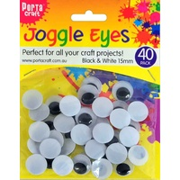 Joggle Eyes 15mm 40pc