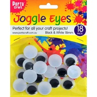 Joggle Eyes 18mm 18pc
