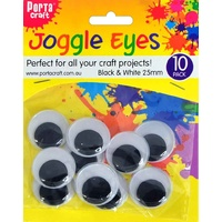 Joggle Eyes 25mm 10pc