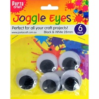 Joggle Eyes 28mm 6pc