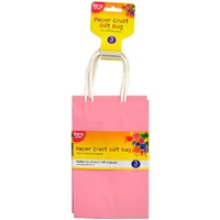 Craft Paper Bag 3pc Light Pink