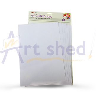 Craft Card A4 6pc - White