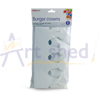 Cardstock DIY Burger Crowns 8pc