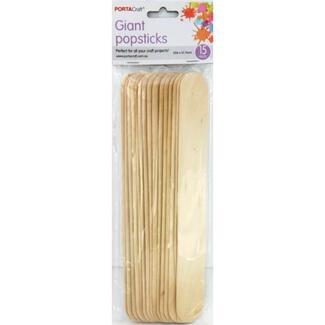 Popsticks Giant 15pc Natural