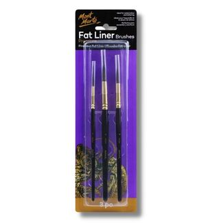Mont Marte Paint Brush Set - Fat Liner Taklon/Squirrel Sizes 16/10/6