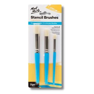 Mont Marte Paint Brush Set - Professional Stencil Brush 3pc