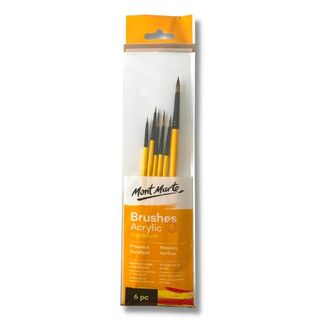 Mont Marte Gallery Series Brush Acrylic Set 6pc