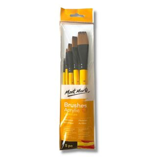 Mont Marte Gallery Series Paint Brush Set - Acrylic 5pc