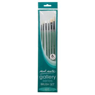 Mont Marte Gallery Series Brush Set Oils 6 pc
