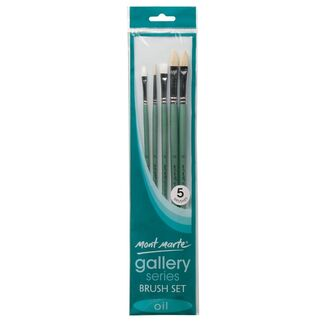 Mont Marte Gallery Series Paint Brush Set - Oil 5pc