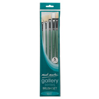 Mont Marte Gallery Series Brush Set Oils 5 pce