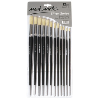 Mont Marte Studio Series Paint Brush Set - Round Sizes 1-12