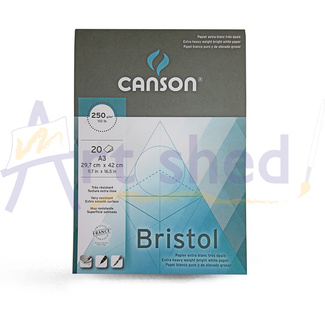 Canson Bristol Paper Pad A3 250gsm 20 Sheets