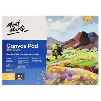 Mont Marte Canvas Pad A3 280gsm 10 Sheets