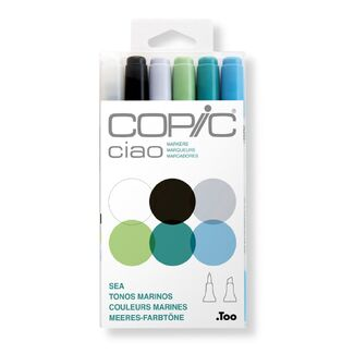 Copic Ciao Marker Set of 6 - Sea Colours