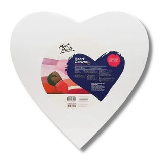 Mont Marte Canvas Heart Shaped 40cm