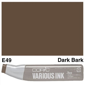 Copic Various Ink (Refill) - E49 Dark Bark