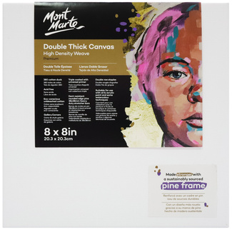 "Mont Marte Professional Series Canvas Double Thick 8"" x 8"" - 20.3 x 20.3cm"