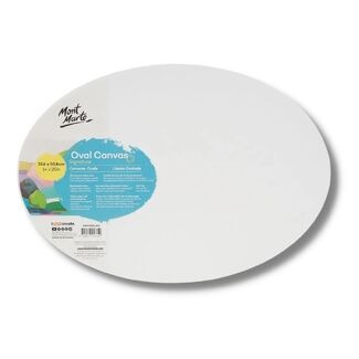 "Mont Marte Professional Series Oval Canvas 14"" x 20"" - 35.6 x 50.8cm"