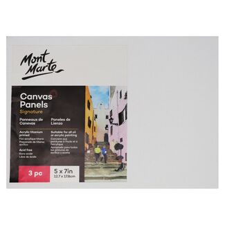 "Mont Marte Canvas Panel 5"" x 7"" - 12.7 x 17.8cm - 3pc"