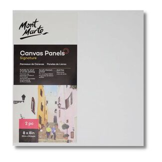 "Mont Marte Canvas Panel 8"" x 8"" - 20.4 x 20.4cm - 2pc"