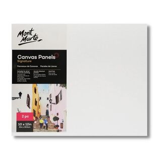 "Mont Marte Canvas Panel 10"" x 12"" - 25.4 x 30.5cm - 2pc"
