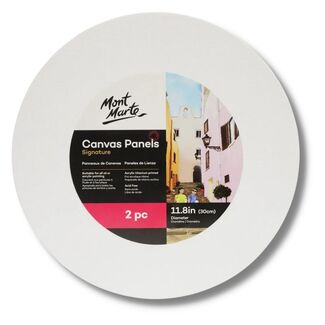 Mont Marte Canvas Panels Round 30cm - 2 pack