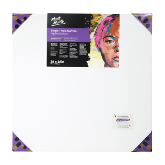 "Mont Marte Professional Series Canvas Single Thick 16"" x 16"" - 40.6 x 40.6cm"